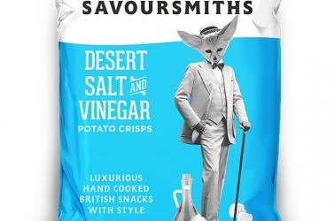 Picture of Savoursmiths crisps Desert Salt and Vinegar (not organic) 40g